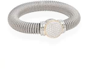 Alor Women's Diamond, Stainless Steel & 18K Yellow Gold Coil Bracelet