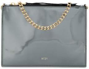 No.21 zipped clutch bag
