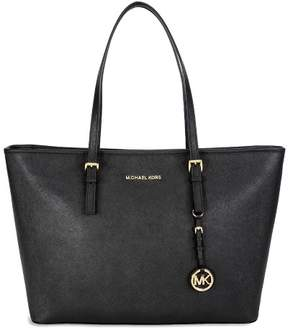 Michael Kors MICHAEL Jet Set Travel Medium Top-Zip Tote - BLACK - STYLE
