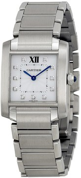 Cartier Tank Francaise Silver Dial Stainless Steel Ladies Watch