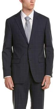 Ike Behar Wool Smart Suit With Flat Front Pant.