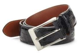 Saks Fifth Avenue Genuine Crocodile Skin Belt