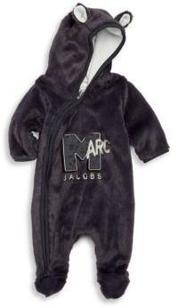 Little Marc Jacobs Baby's Hooded Logo Footie