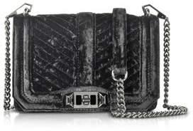 Rebecca Minkoff Women's Black Velvet Shoulder Bag. - BLACK - STYLE