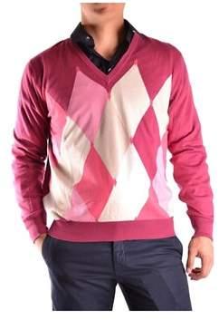 Ballantyne Men's Fuchsia Cotton Sweater.