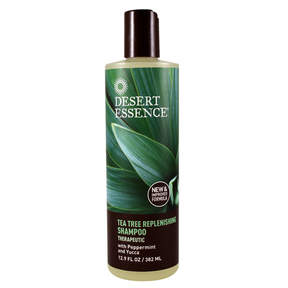 Daily Replenishing Tea Tree Shampoo by Desert Essence (12oz Shampoo)