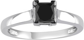 Black Diamond MODERN BRIDE Midnight 1 CT. Color-Enhanced 10K White Gold Engagement Ring