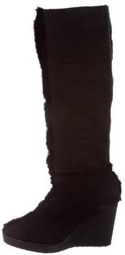 Castaner Shearling-Trimmed Wedge Boots w/ Tags