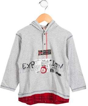 Catimini Boys' Hooded Long Sleeve Shirt w/ Tags