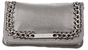 Michael Kors Metallic Chain-Embellished Clutch - GREY - STYLE