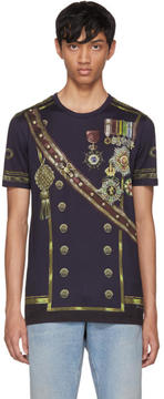 Dolce & Gabbana Navy Knight T-Shirt