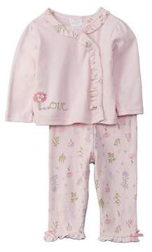 Laura Ashley Girls' 2pc Kimono And Pant Set.