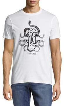 Roberto Cavalli Logo-Print Cotton Tee