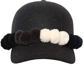 Comme des Garcons Wool Hat With Pompoms