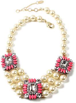 Amrita Singh Pink Austrian Crystal Aristocratic Bib Necklace