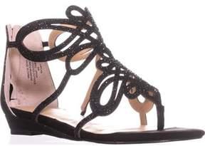 Thalia Sodi Ts35 Laylan Flat Thong Sandals, Black.