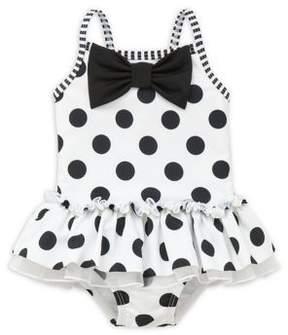 Little Me Baby Girls' Polka Dot Peplum One-Piece Swimsuit