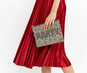 Oasis Party Embellished Clutch
