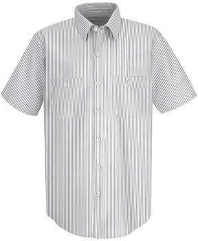 JCPenney Red Kap SP20 Micro-Check Men's Uniform Shirt