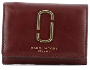 Marc Jacobs Bordeaux Leather Wallet - RED - STYLE