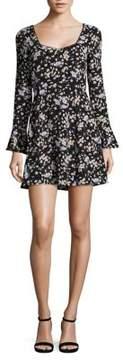 WAYF Floral Print Mini Dress