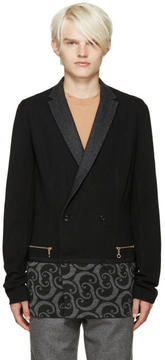 Kolor Black Printed Panel Blazer
