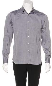 Calvin Klein Collection Herringbone Woven Shirt