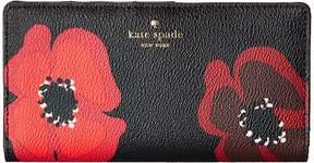 Kate Spade Hyde Lane Poppy Stacy Wallet - BLACK MULTI - STYLE