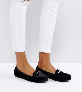 New Look Wide Fit Velvet Loafer