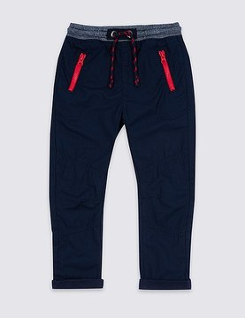 Marks and Spencer Pure Cotton Drawstring Trousers (3 Months - 5 Years)