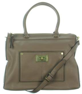 Steve Madden Womens Faux Leather Logo Satchel Handbag