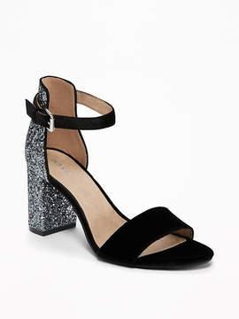 Old Navy Glitter Open-Toe Heeled Sandals for Women