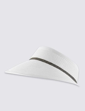 Marks and Spencer Weave Contrast Trim Visor Hat