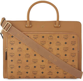 MCM Otto Visetos coated canvas large briefcase
