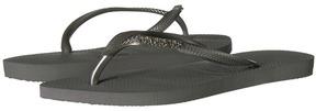Havaianas Slim Logo Metallic Flip Flops Women's Sandals