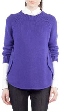 Akris Punto Quadrant Circle Cashmere Blend Pullover