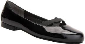 Ros Hommerson Black Opal Patent Leather Flat - Women