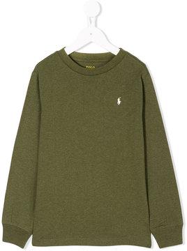 Ralph Lauren Kids logo knitted sweater