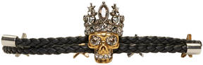 Alexander McQueen Black Queen Friendship Bracelet