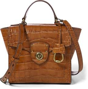 Ralph Lauren Crocodile-Embossed Satchel