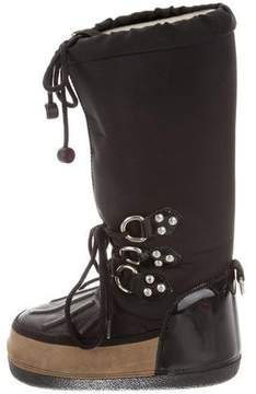 DSQUARED2 Round-Toe Knee-High Moon Boots