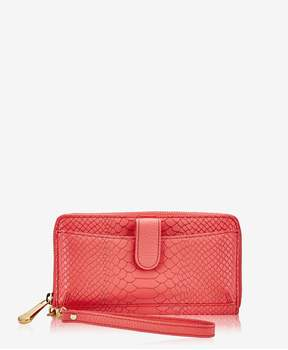 GiGi New York | City Wallet In Sunset Embossed Python | Sunset embossed python