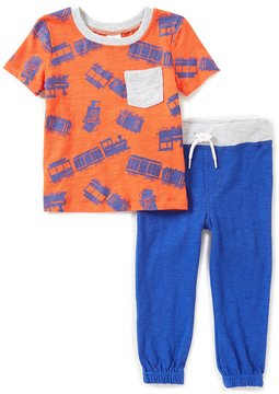 Starting Out Baby Boy 12-24 Months Short-Sleeve Train Top & Pants Set