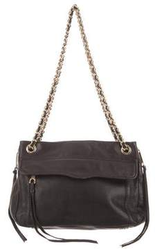Rebecca Minkoff Leather Shoulder Bag - BLACK - STYLE