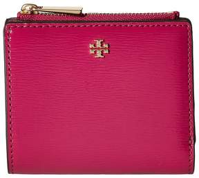 Tory Burch Robinson Patent Mini Wallet Bill-fold Wallet - BLACK - STYLE