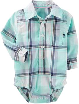 Osh Kosh Oshkosh Bgosh Baby Boy Plaid Button-Front Bodysuit