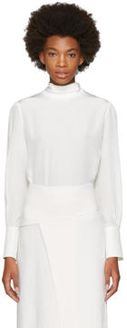Chloé White Button Back Blouse