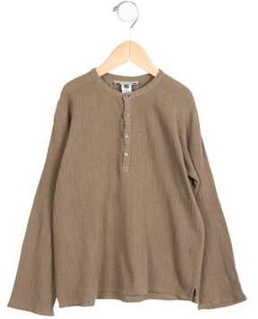 Bonpoint Boys' Long Sleeve Button-Up Shirt