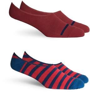 Alternative Apparel Richer Poorer Theo No Show Socks 2-Pack