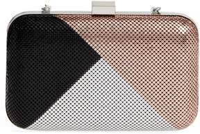 Whiting & Davis Color Block Mesh Box Clutch